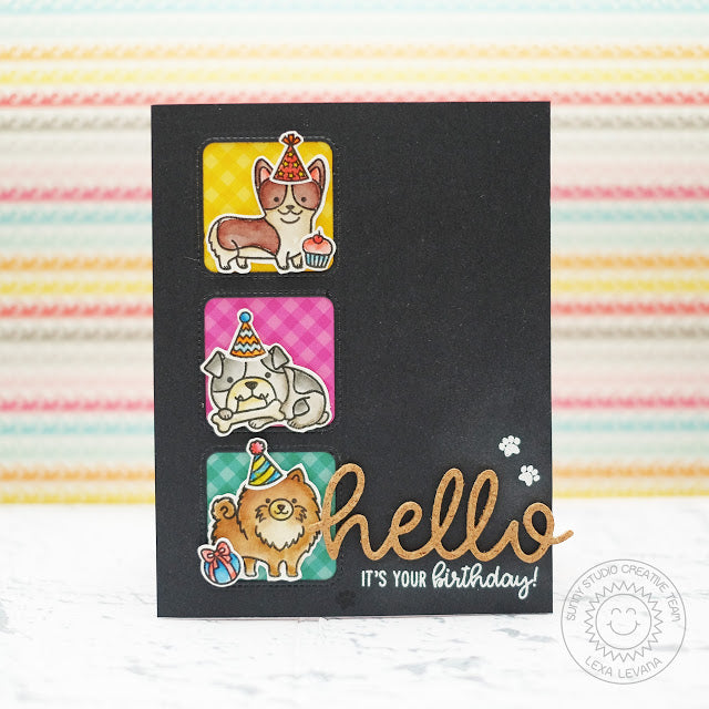 Sunny Studio Stamps Hello Dog Birthday Card by Lexa Levana