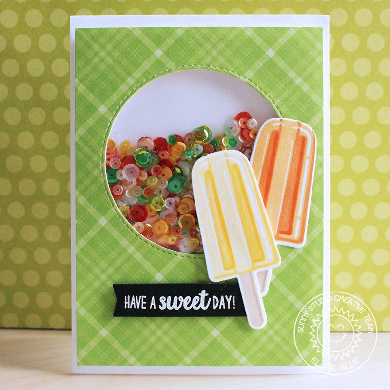 Sunny Studio Stamps Perfect Popsicles Shaker Card