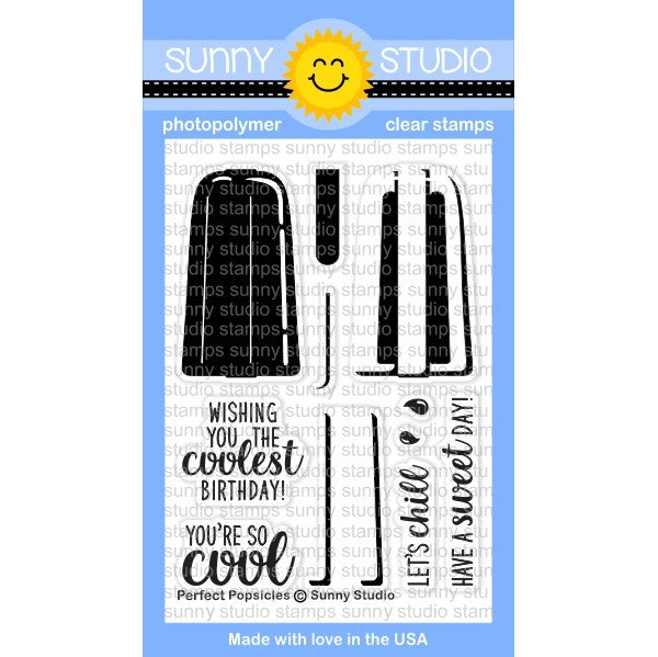 Sunny Studio Stamps Perfect Popsicles 3x4 Clear Photopolymer Stamp Set