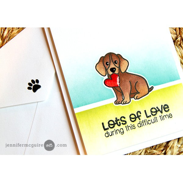 Sunny Studio Stamps Pet Sympathy Lots of Love Puppy Dog Card