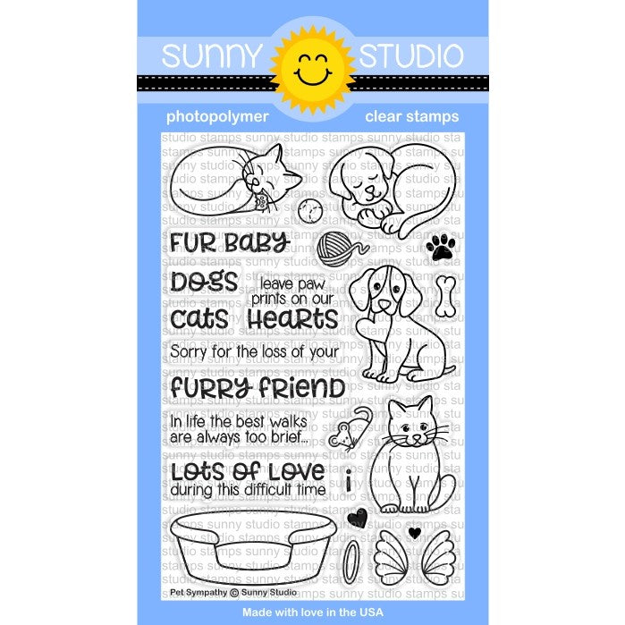Sunny Studio Stamps Pet Sympathy 4x6 Photopolymer Clear Stamp Set