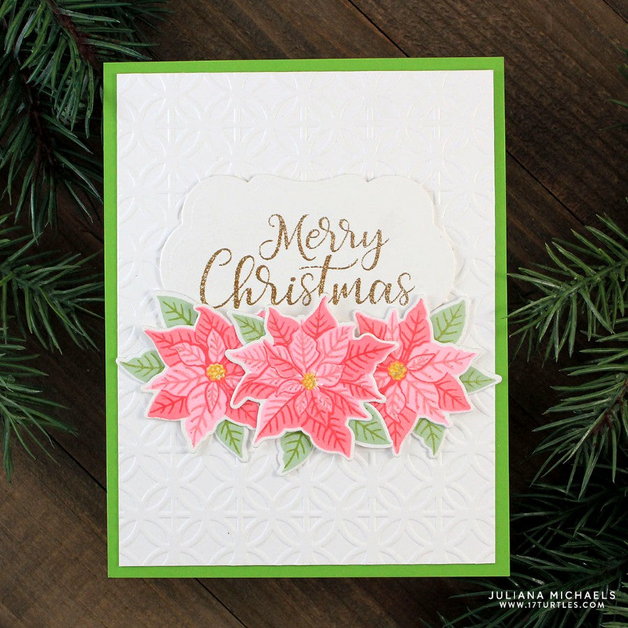 Sunny Studio Stamps Petite Poinsettias 4x6 Photo Polymer Clear Stamp Set