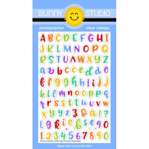 Sunny Studio Phoebe Alphabet ABC's 4x6 Clear Photopolymer Stamp Set