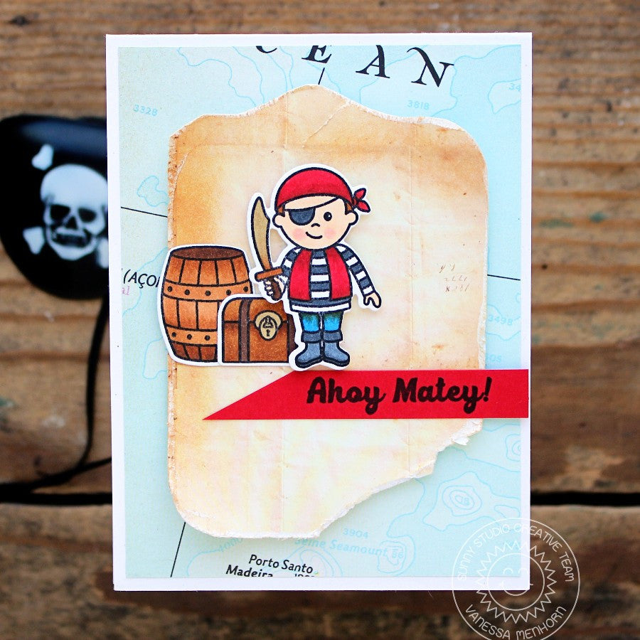 Sunny Studio Stamps Pirate Pals Pirate Map Card