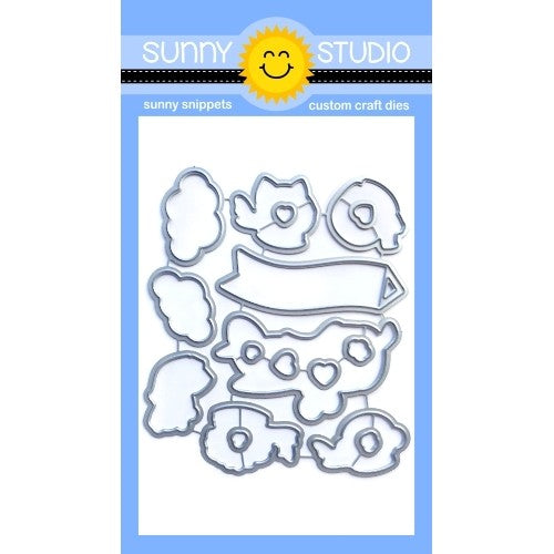 Sunny Studio Stamps Plane Awesome Low Profile Metal Cutting Dies