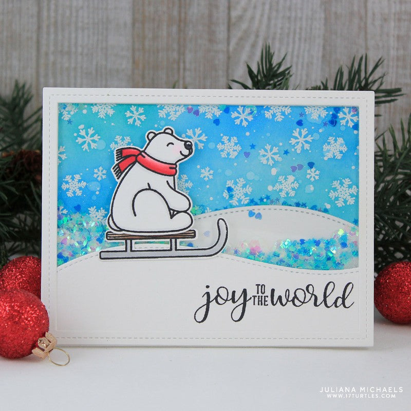 Sunny Studio Stamps Snow Flurries Shaker Christmas Card