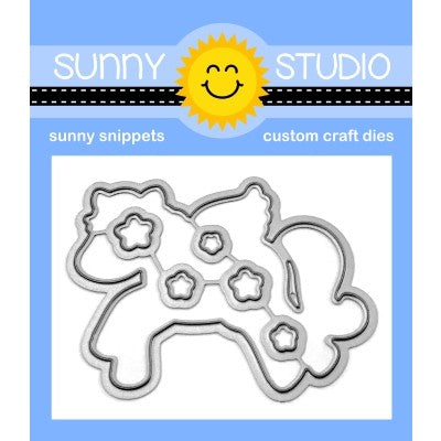 Sunny Studio Stamps Prancing Pegasus Flying Horse Fairytail Metal Cutting Dies Set