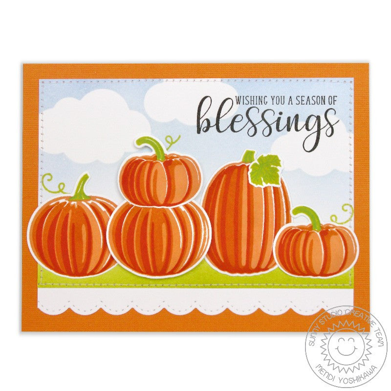 Sunny Studio Stamps Pretty Pumpkins Season of Blessings Fall Card