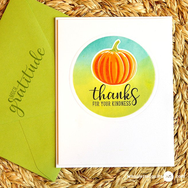 Sunny Studio Stamps Pretty Pumpkins Clean & Simple Thank You Card