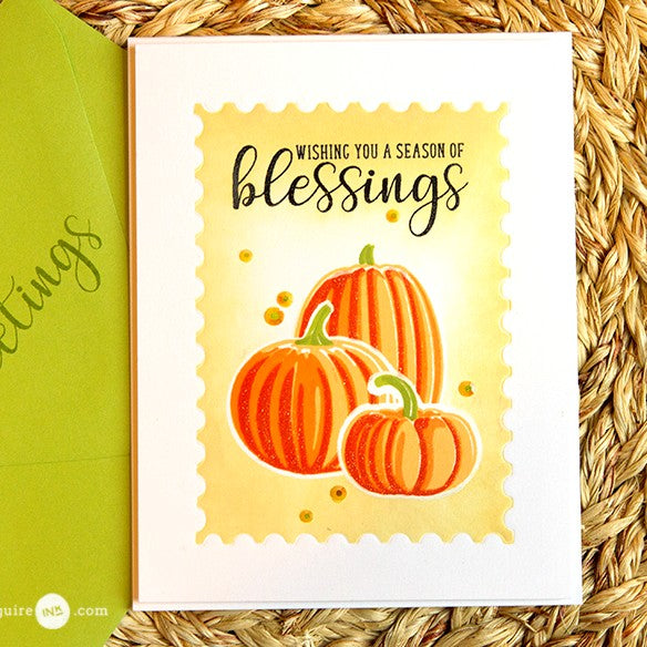 Sunny Studio Stamps Pretty Pumpkins Pumpkin Trio Card by Jennifer McGuire