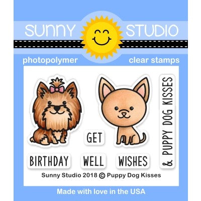 Sunny Studio Stamps Puppy Dog Kisses 2x3 Clear Photo-Polymer Stamp Set