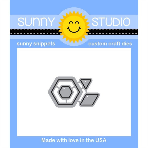 Sunny Studio Stamps Quilted Hexagons Die Set
