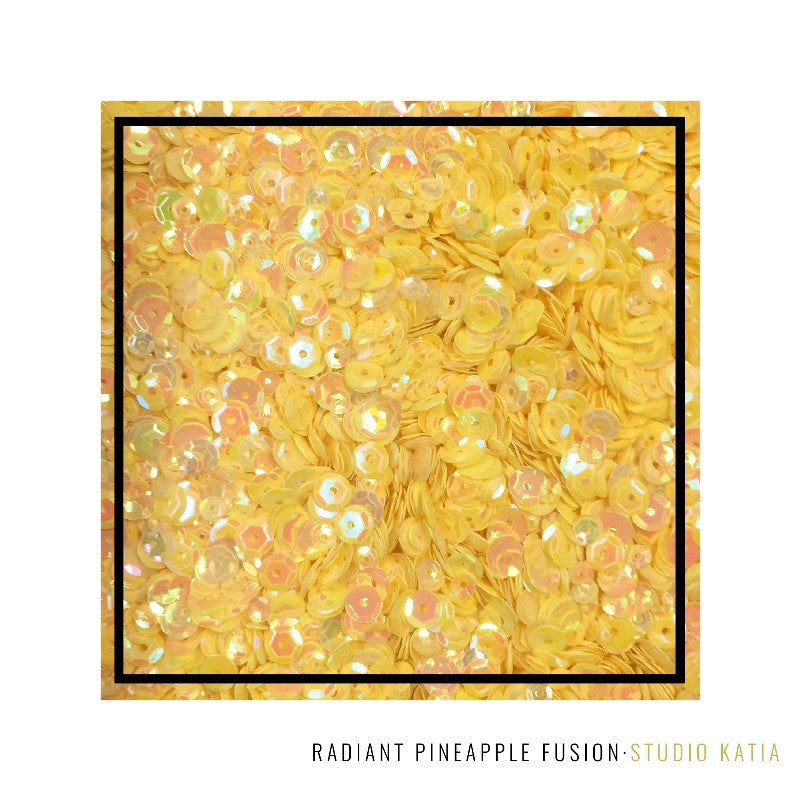 Studio Katia Magic Radiant Pineapple Fusion Yellow Iridescent Sequins Mix
