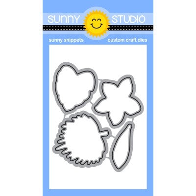 Sunny Studio Stamps Radiant Plumeria Metal Cutting Dies