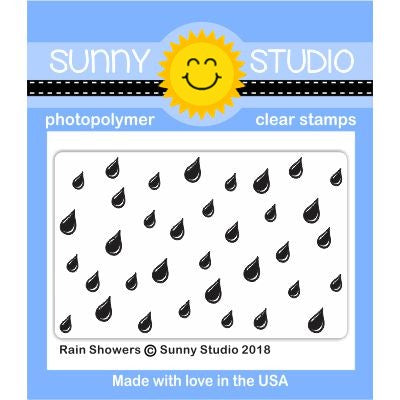 Sunny Studio Stamps Rain Showers Background 2x3 Clear Photopolymer Stamp
