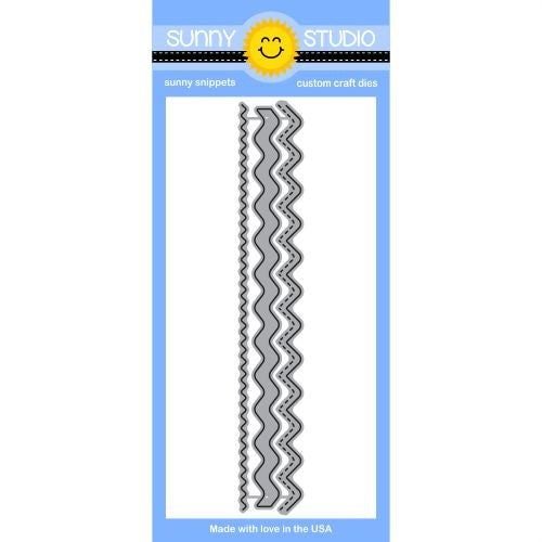 Sunny Studio Stamps Ric Rac Stitched Zig Zag Borders Steel Rule Die Set
