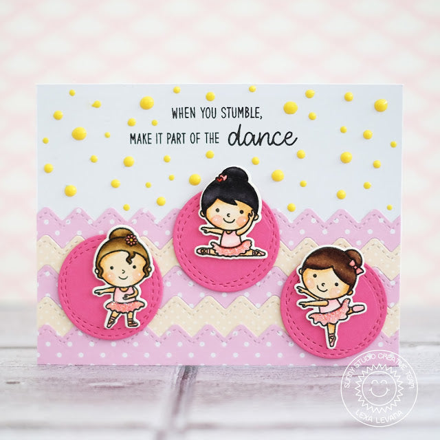 Sunny Studio Stamps Tiny Dancers When You Stumble Make It Part of The Dance Card