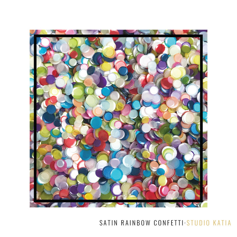 Studio Katia 4mm, 5mm and 6mm Cupped Iridescent Satin Finish Confetti