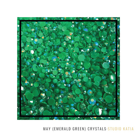 Studio Katia Emerald Green May Birthstone Crystals in 3 sizes