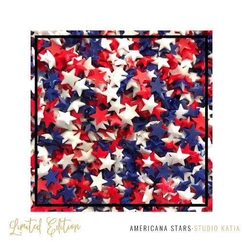 Studio Katia Americana Red, White & Blue Star Crystals Embellishments- 5mm & 8mm