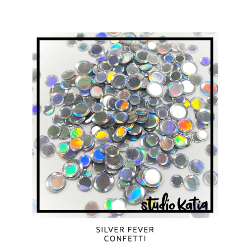 Studio Katia Silver Fever Iridescent Metallic Holographic Confetti Mix in 4mm, 5mm & 6mm sizes SK2713