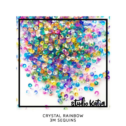 Studio Katia 3mm 3M Mini Crystal Rainbow Sequins
