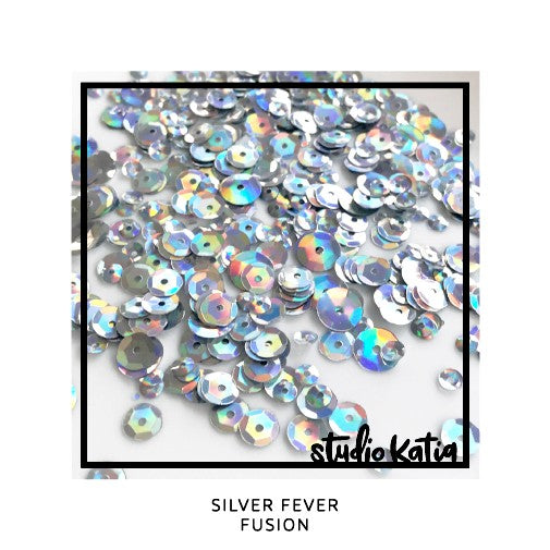 Studio Katia Silver Fever Iridescent Disco Ball Fusion Sequins Mix in 4mm, 6mm & 8mm