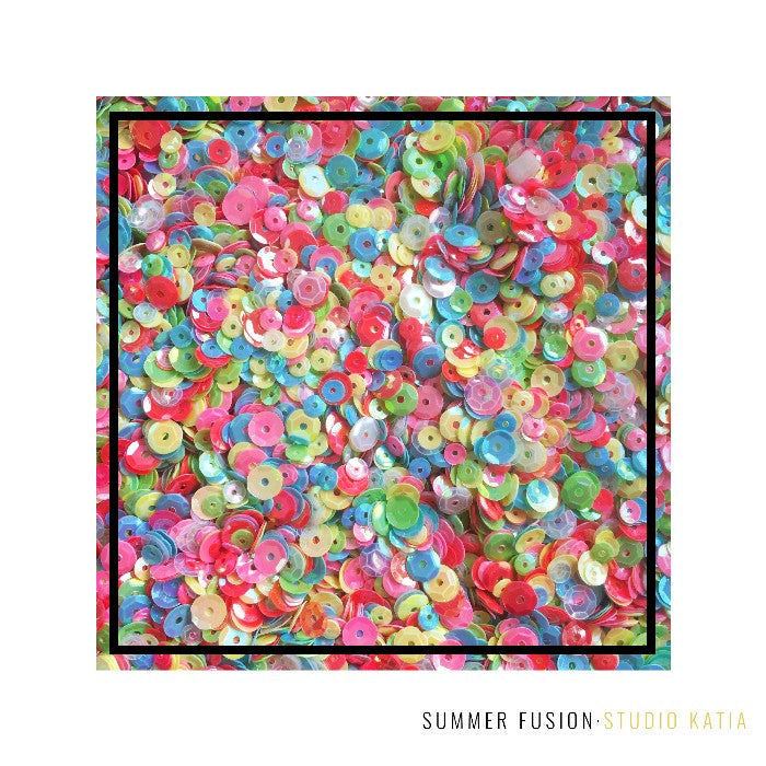 Studio Katia Summer Fusion 4mm & 6mm Iridescent Sequins Mix