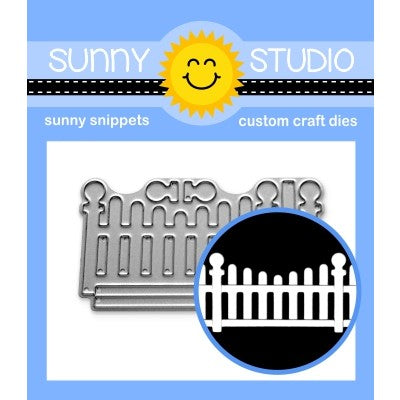 Sunny Studio Stamps Scalloped Fence Border Metal Cutting Dies SSDIE-252