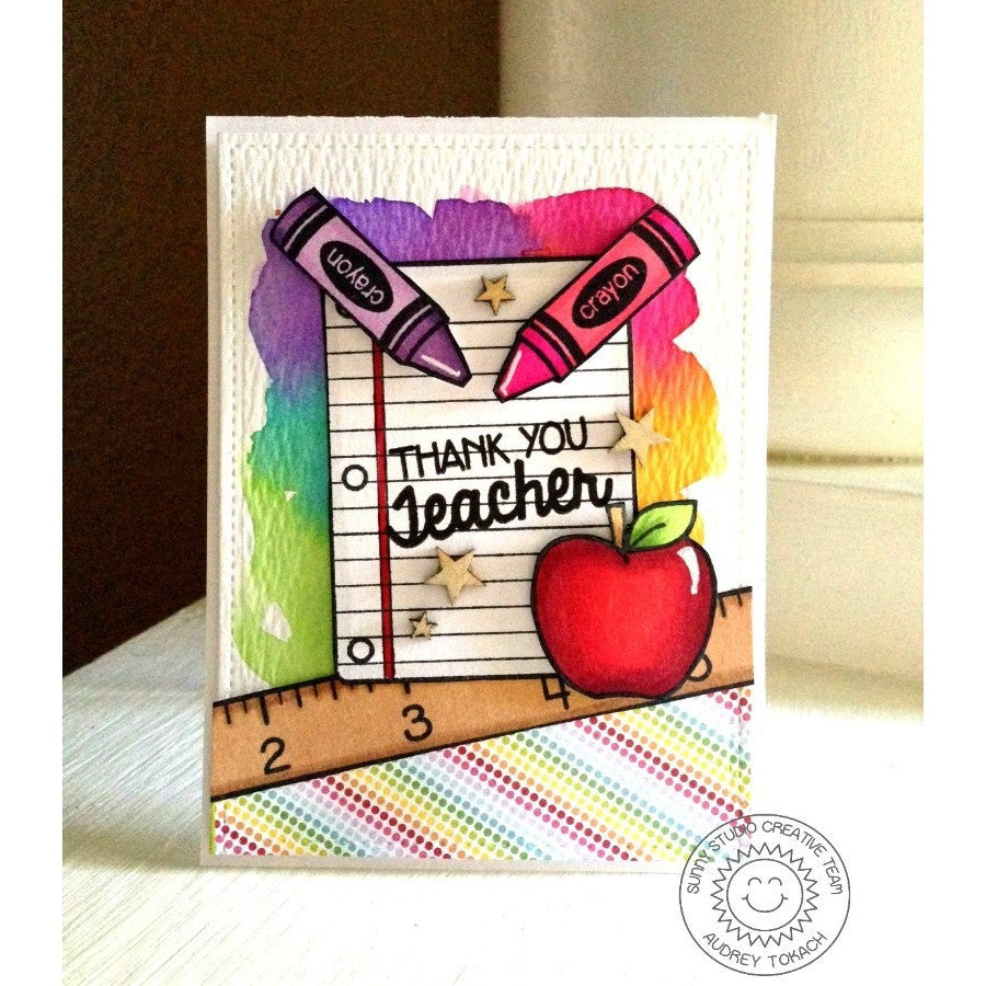 Sunny Studio Stamps School Time Thank You Teacher Card