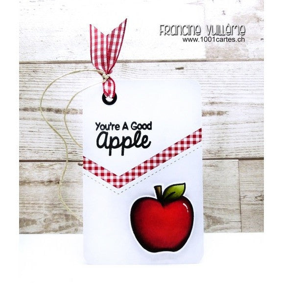 Sunny Studio Stamps School Time You're A Good Apple Gift Tag