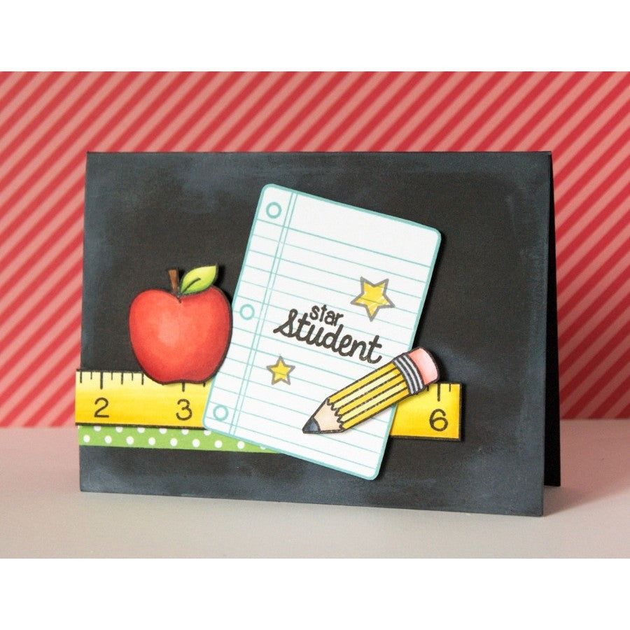 Sunny Studio Stamps School Time Chalkboard Star Student Card