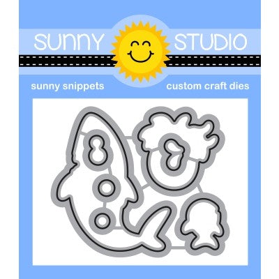 Sunny Studio Stamps Sea You Soon Metal Cutting Dies