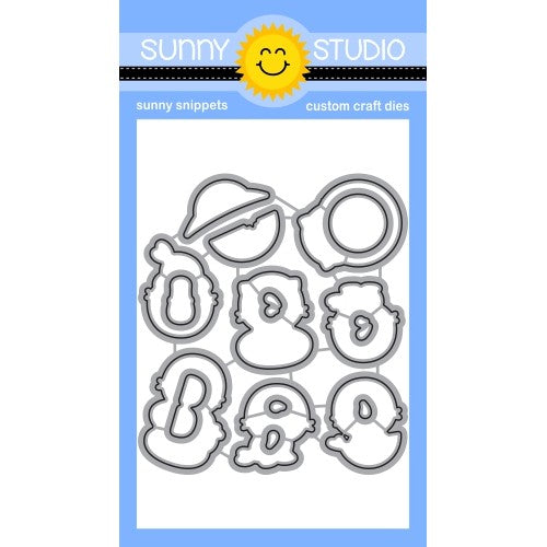 Sunny Studio Stamps Sealiously Sweet Seal Metal Cutting Dies
