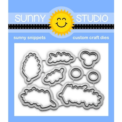 Sunny Studio Stamps Season's Greetings Christmas Metal Cutting Dies
