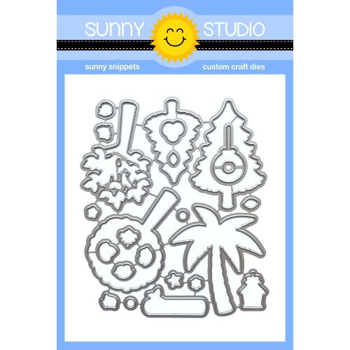 Sunny Studio Stamps Seasonal Tree Low Profile Metal Cutting Dies