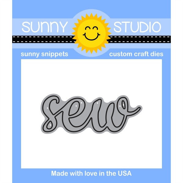 Sunny Studio Stamps Sew Word Die