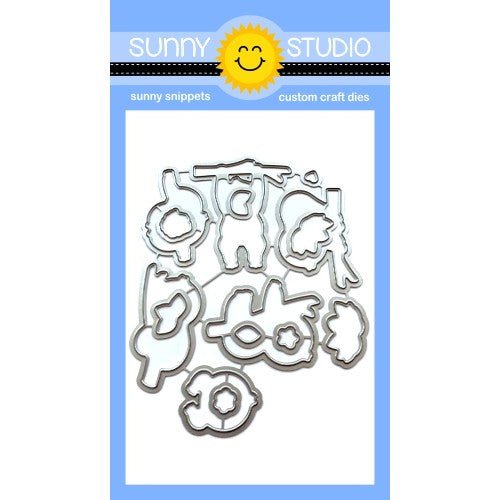 Sunny Studio Stamps Silly Sloths Low Profile Metal Cutting Dies