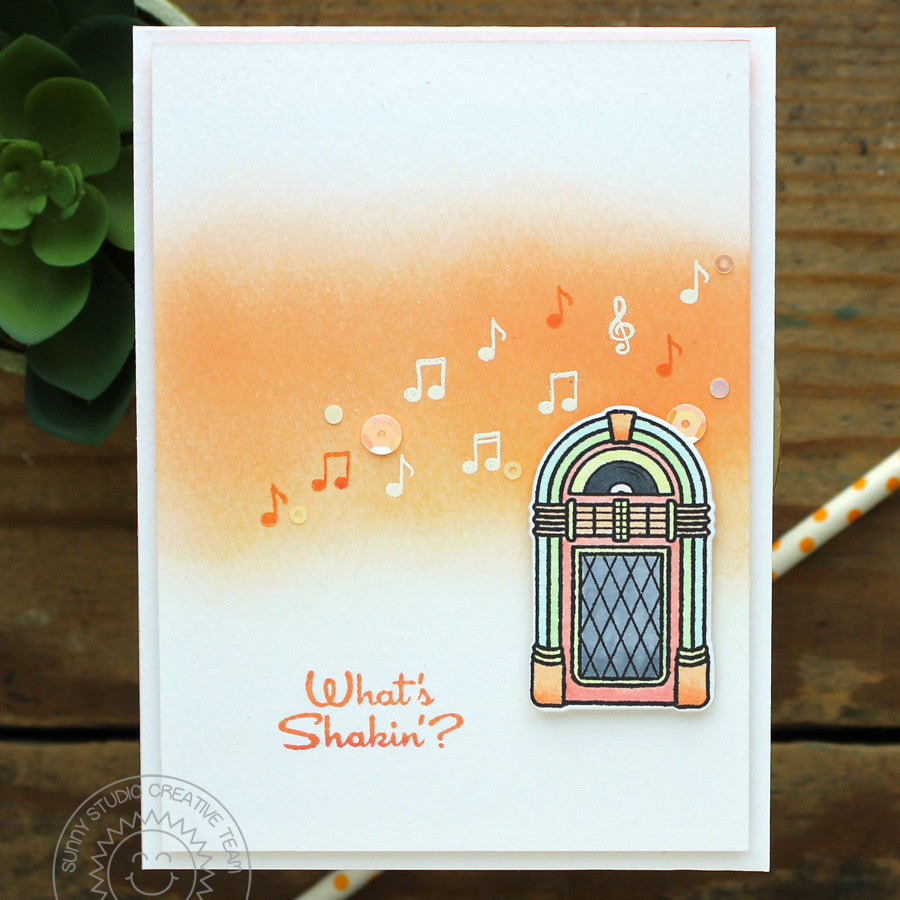 Sunny Studio Stamps Sock Hop Retro 1950's Jukebox card
