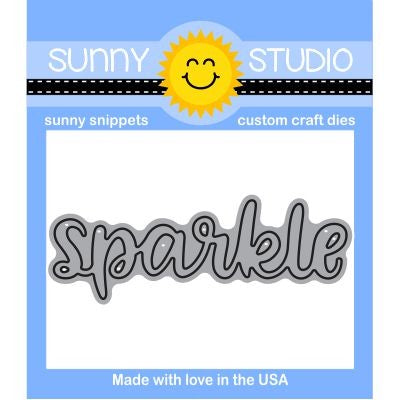 Sunny Studio Stamps Sparkle Word Steel Rule Die