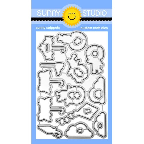 Sunny Studio Stamps Spring Showers Metal Cutting Dies Set