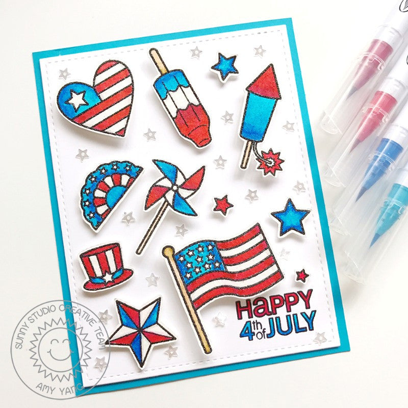 Sunny Studio Stamps Stars & Stripes Patriotic Fourth of July Card