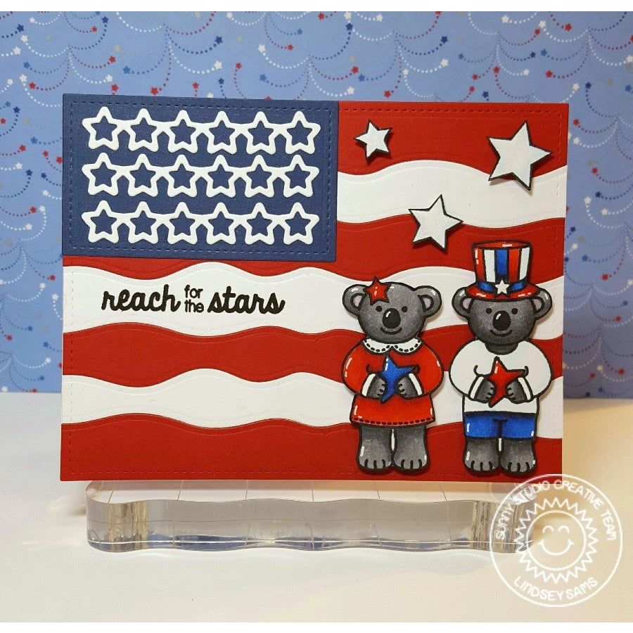 Sunny Studio Stamps American Flag Card using star border die