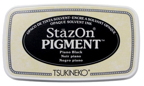 Tsukineko StazOn Pigment Piano Black Solvant Opaque Ink Pad