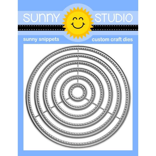 Sunny Studio Stamps Stitched Circle Small Metal Cutting Dies - Nesting 6-piece Set