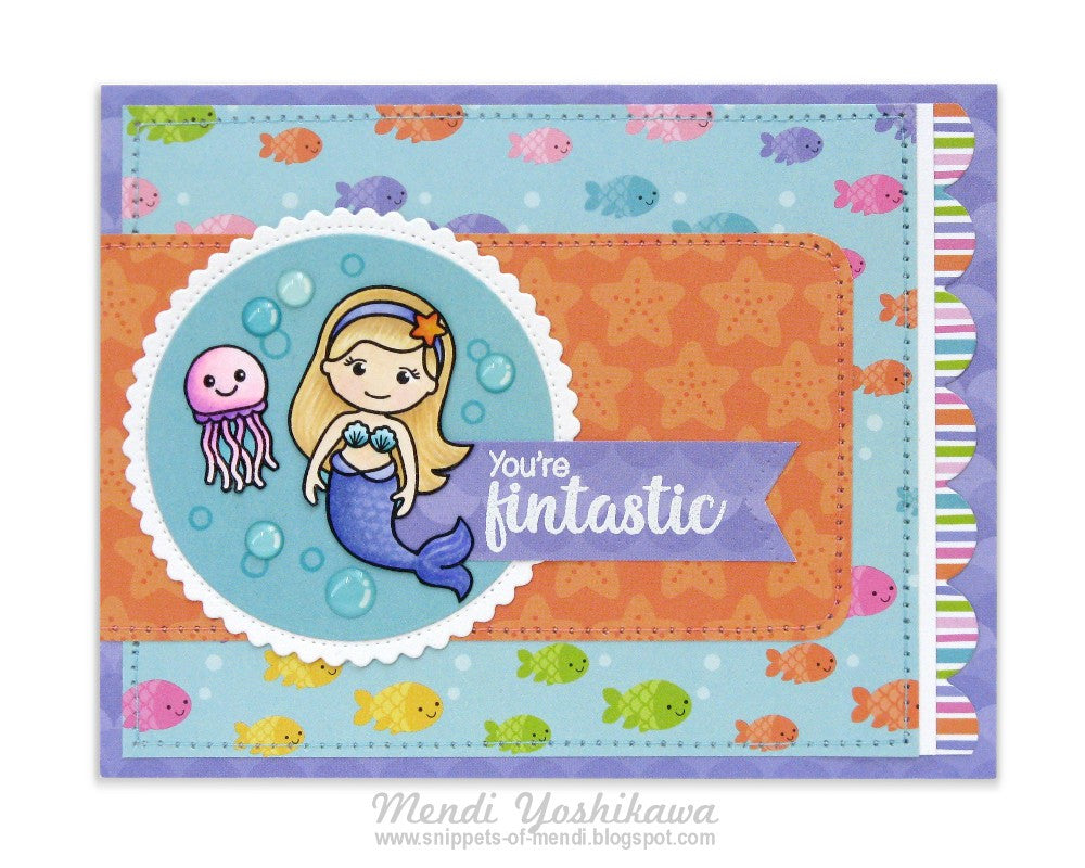 Sunny Studio Stamps Magical Mermaids & Doodlebug Under The Sea Card