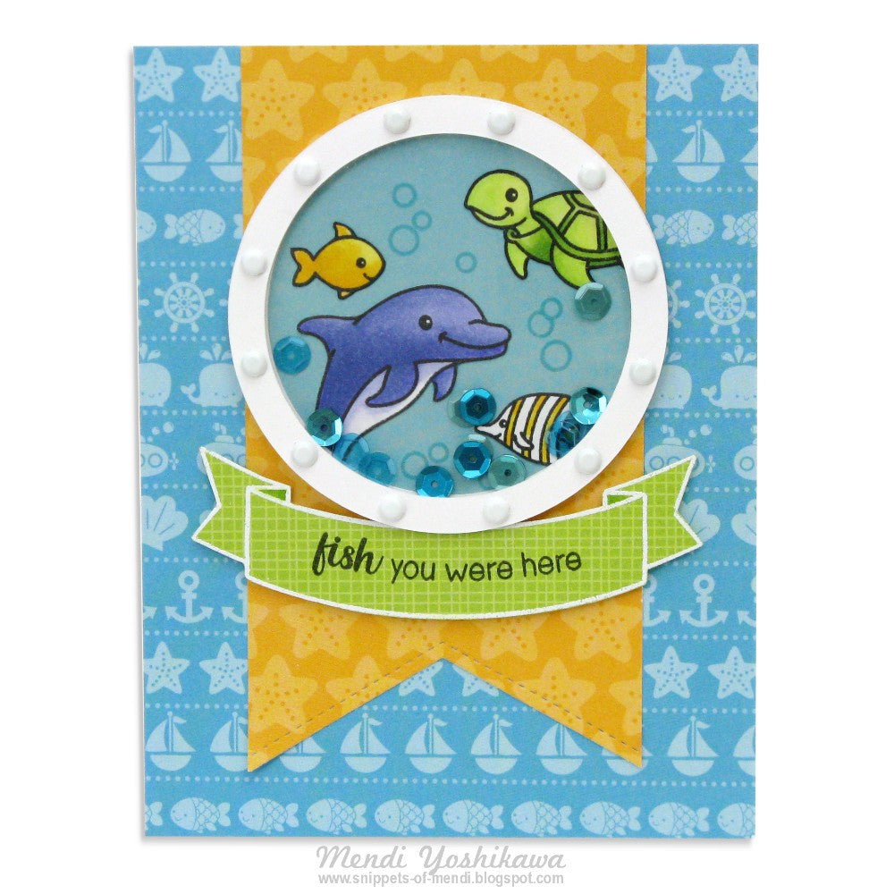 Sunny Studio Stamps Oceans of Joy & Doodlebug Anchors Aweigh Card