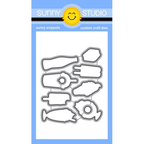 Sunny Studio Stamps Summer Sweets Metal Cutting Dies