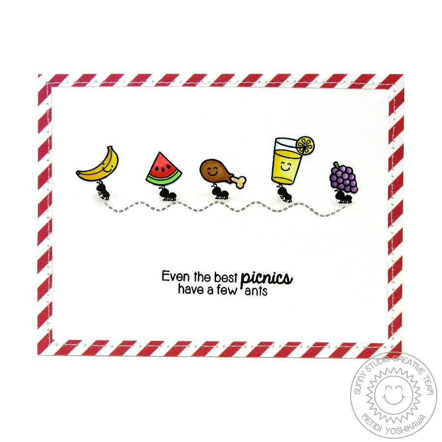 Sunny Studio Stamps Summer Picnic Ant Card