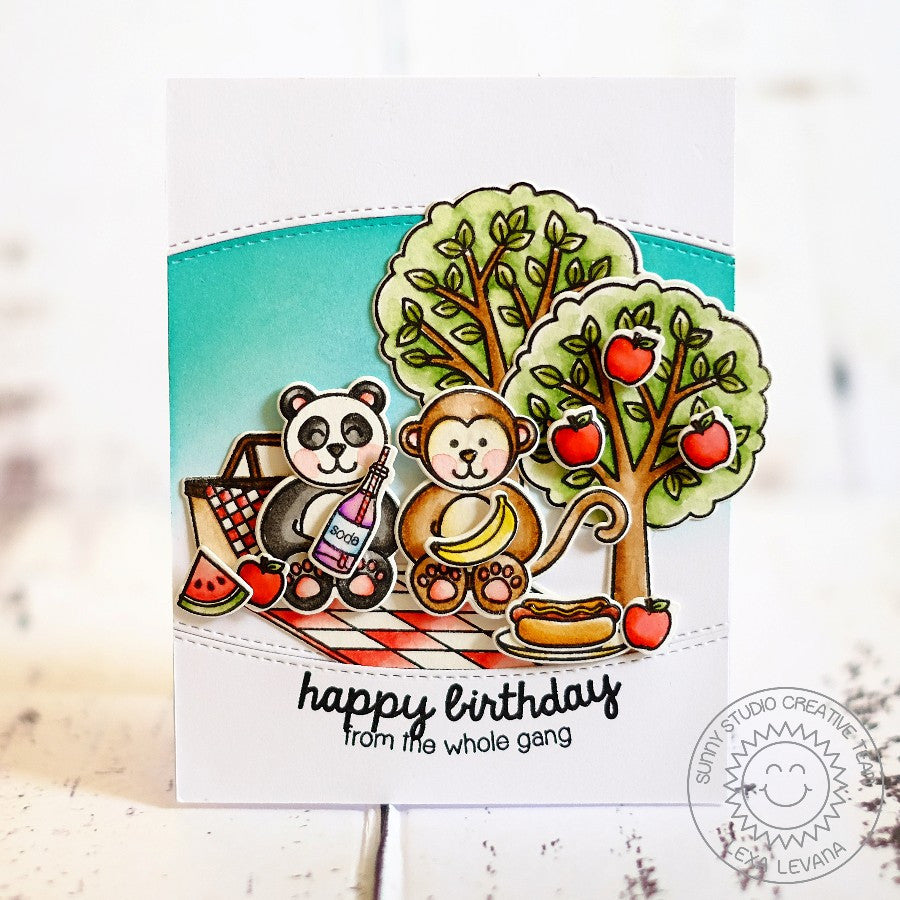 Sunny Studio Stamps Summer Picnic Critter Birthday Card